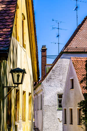 famous historic buildings at the old town of freising - bavaria
