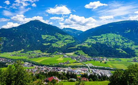 landscape at the zillertal in austria - european alps Stock Photo