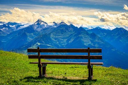 view from Schmitten mountain in Austria.