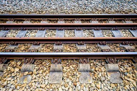 old railway tracks in germany