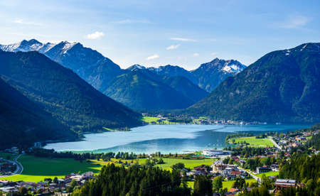 landscape at the achensee lake in austria - view from Ebener Joch
