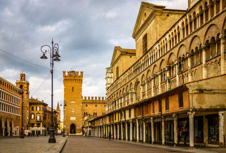 famous old town of Ferrara in italy