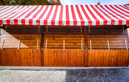 typical old kiosk in austria