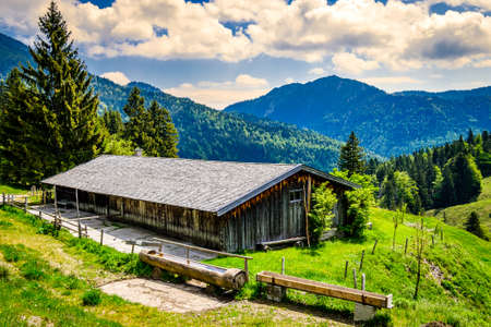 old farmhouse at the european alps - bavaria Standard-Bild