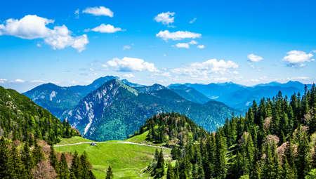 view at the herzogstand mountain - bavaria