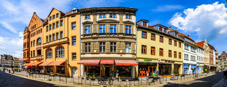 Wittenberg, Germany - June 17: famous old town with historic buildings in Wittenberg on June 17, 2020 Sajtókép