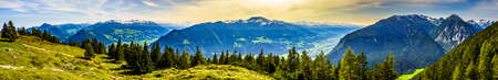 Inntal and zillertal valley in austria - view from Ebner Joch Stockfoto