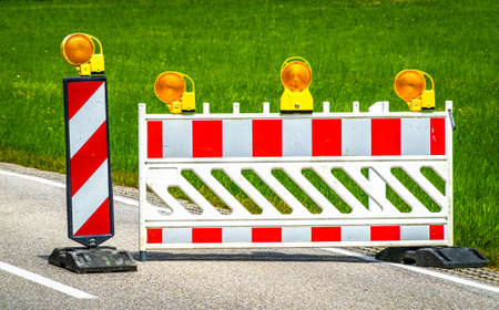 security barrier at a street - photo Stockfoto
