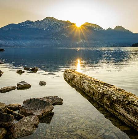 mountains at the kochel lake - bavaria - germany