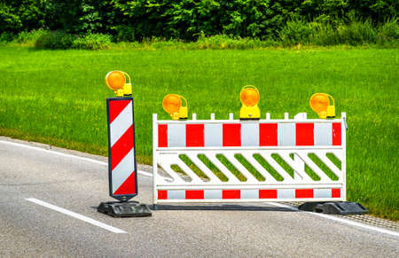 security barrier at a street - photo