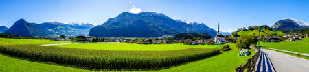 mountains at the Inntal valley in Austria - Jenbach - photo