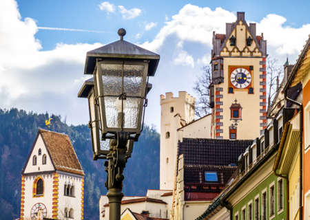 old town of fussen - bavaria - germany Reklamní fotografie