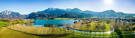 landscape at the lake kochel - bavaria - germany