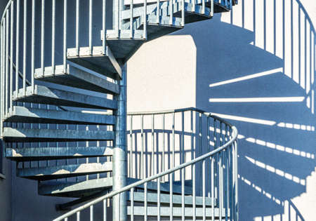 spiral staircase at a building - photo