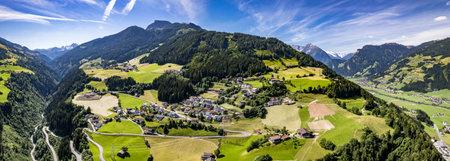 view at the zillertal valley in austria - gerlosstrasse