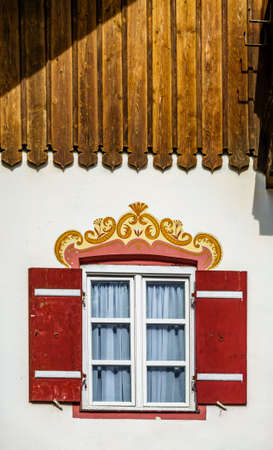 old window at an antique house - austria