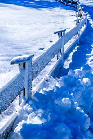 old wooden fence - close up Standard-Bild
