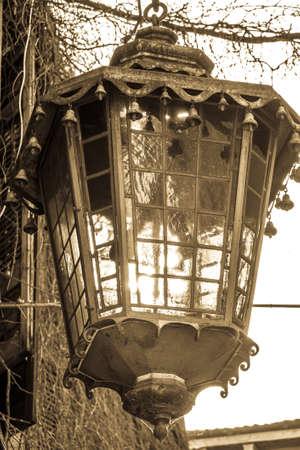 nice old electric lamp - photo Standard-Bild