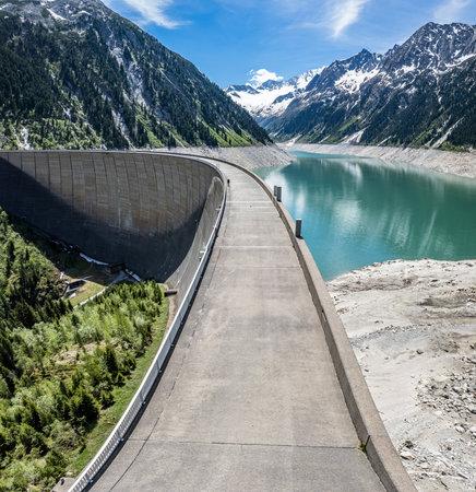 landscape at the Schlegeisspeicher reservoir in Austria