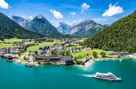 landscape at the achensee lake in austria - pertisau