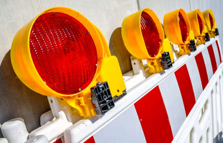 security barrier at a construction site - photo
