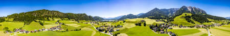 view from Walchsee - Zahmer Kaiser Standard-Bild