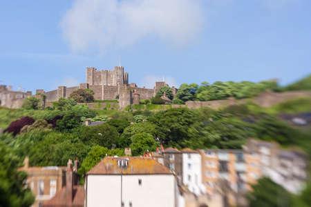 dover: Dover castle in sunny day