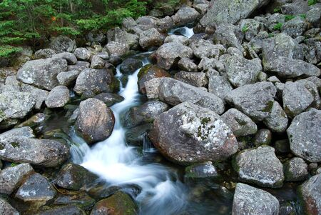 water stream: Water Stream in Mountains Stock Photo