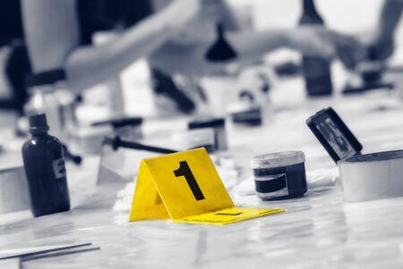 crime: Marker of Crime Scene