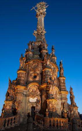 trinity: Night Photo of Holy Trinity Column