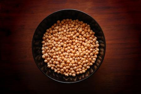 garbanzos: Bowl with Chickpeas Foto de archivo