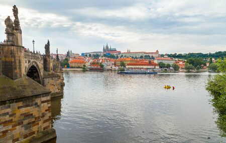 charles: View of Prague Castle from Charles Bridge