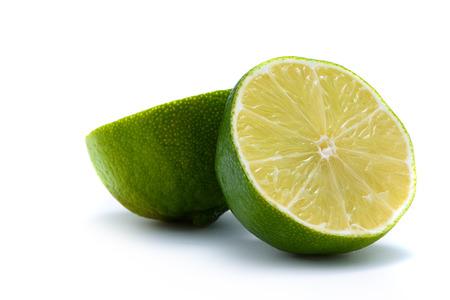 acidic: Sliced Limet on White Background