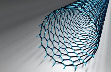 nanotube: Straight Carbon Nanotube, Dark Blue Bonds