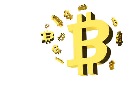 e money: Bitcoin Signs Background