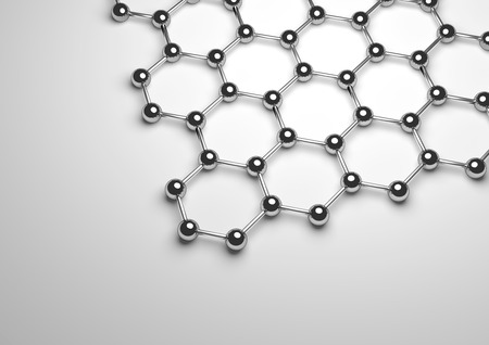 3D Rendering of Silver Graphene Surface Фото со стока - 77498782