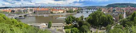 Prague Cityscape in Summer Stock Photo