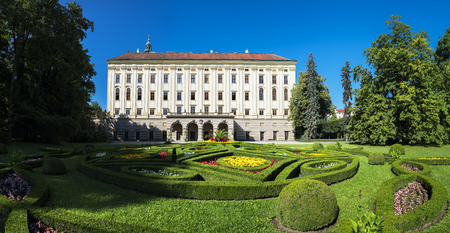 Chateau Garden and Arcibibishops Castle (UNESCO) in Kromeriz