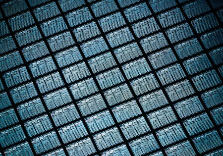 Detail of Silicon Wafer Containing Microchips Banque d'images