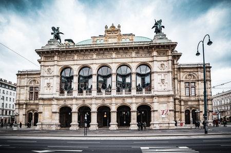 Vienna, Austria - December 10 2018: Day shot of Vienna Operahouse