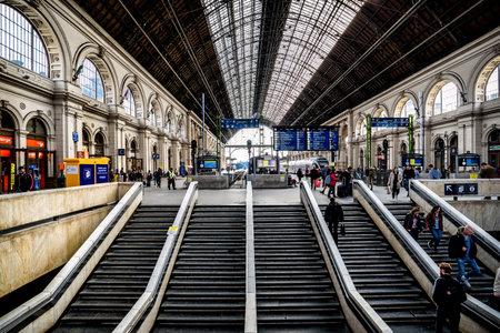 Budapest, Hungaria - April 9 2019: Keleti railway station in Budapest Redakční