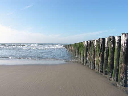 breakwaters: breakwaters at beach Stock Photo