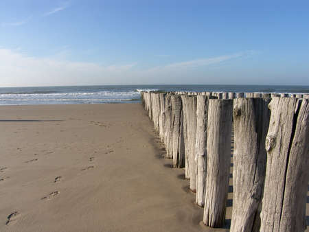 breakwaters: breakwaters at the beach of Westkapelle, Netherlands