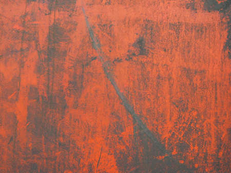 l plate: rusty, orange background