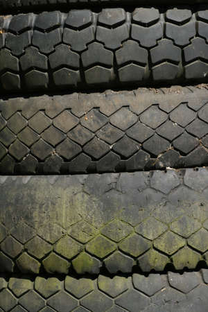 Old tyre stack photo
