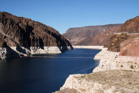 mead: Lake Mead from Hoover Dam Stock Photo