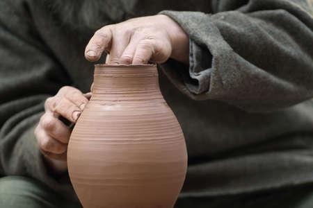 Artisan qui fabrique un pot Banque d'images - 4929982