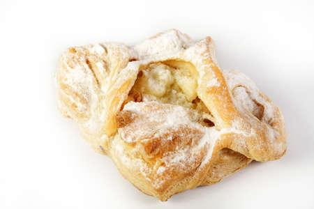 Tarte aux pommes isolée sur un blanc. Banque d'images - 6809504