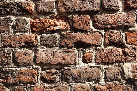 detritus: Weathered brick wall