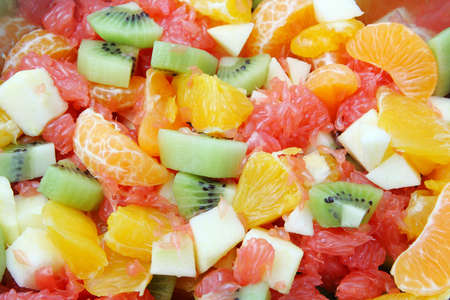 Salade de fruits frais Banque d'images - 8647661